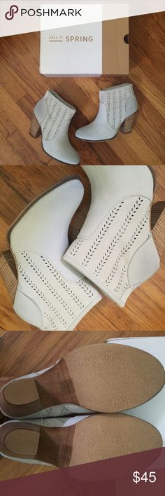 Call It Spring light blue booties. Size 9 Call It Spring light blue booties. Size 9. Brand new in box, never worn! Zip back closure. Call It Spring Shoes Ankle Boots & Booties