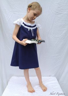 Oliver + S Badminton Dress sewing pattern: with double sleeve ruffles