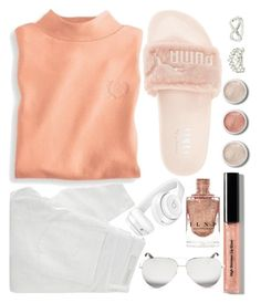 """""""#26"""" by idonthavebrains ❤ liked on Polyvore featuring Charlotte Russe, Terre Mère, Nobody Denim, Puma, Blair, Bobbi Brown Cosmetics, Victoria Beckham and Beats by Dr. Dre"""