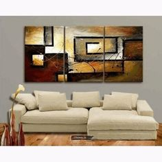 Modern Abstrack https://walldecordeals.com/100-hand-painted-modern-oil-painting-on-canvas-wall-art-home-decoration-3p-for-living-room-stretched-and-framed-ready-to-hang/