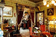 Victorian Interiors | ... Historic Lodging Accommodations: High-Style 1890's Victorian Interiors