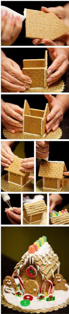 Judy Moore's Mini Gingerbread House - 12 Must-Make Christmas Treats   GleamItUp