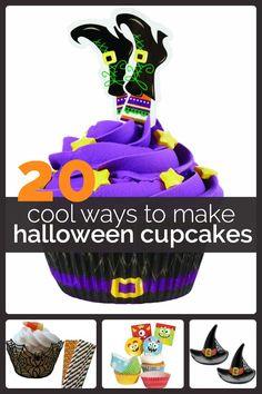 20 Cool Ways to Make Halloween Cupcakes