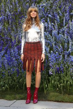 And Chiara Ferragni, Who Rocked a Shimmering Poloneck