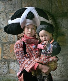 Miao woman with child