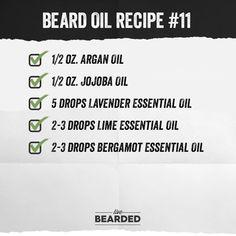 Beard oil recipes