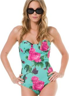 BEACH RIOT COLD HEARTED ONE PIECE  Womens  Featured  We Love: Aqua | Swell.com