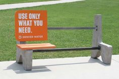 Bus Bench By Denver Water 2006