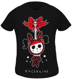 T-Shirt Kidz Fille ROCKABLOK - Hanged Cat