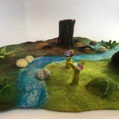 #playmat #waldorf #nurseryart #seasontable #nemez #felting #playscape #feltart #nemezeles #natureinspired #wool #woolscape