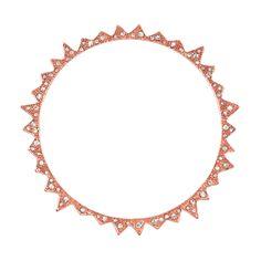 CC Skye Starburst Rose Gold Crystal Bangle