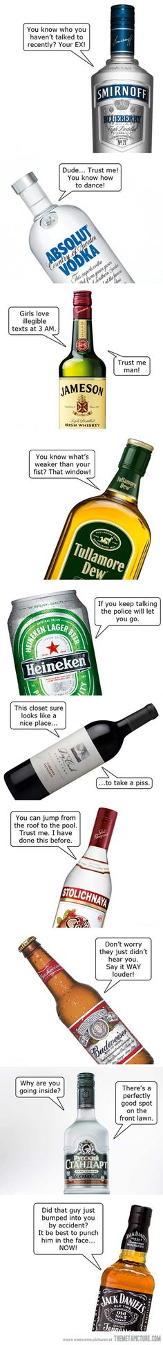 If alcohol could talk...lol