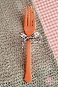 fall baby shower forks