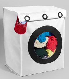 Washing Machine Laundry Hamper #designeveryday