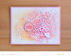 Studio Calico floral cut file card by Dana
