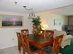Dining room in a 3 bedroom condo