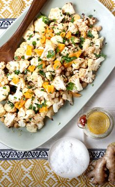 Roasted Cauliflower with Chickpeas, photo by Kim Jones | Camille Styles