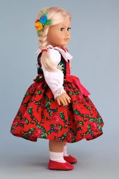 DreamWorld Collections Highlander Girl (Goralka) - 18 Inch Collectible Regional Doll : Regional Dolls