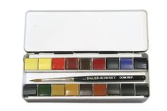 Best little watercolor set--EVER! My wife and i got it in London--I added an extra row of dividers so we can have 9 extra colors. Watercolor Pallet, Watercolor Water, Watercolor Journal, Painting Tattoo, Painting & Drawing, Daler Rowney Watercolor, Pochade Box, Urban Sketching, Watercolor Techniques