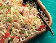Asian Tuna Noodle Salad - Tuna Recipes - Clover Leaf Canada #CloverLeafRecipes