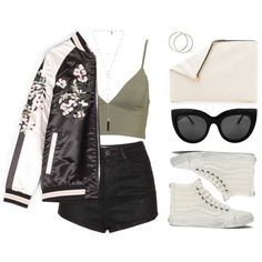 A fashion look from April 2016 featuring Topshop shorts, Vans sneakers and Clare V. clutches. Browse and shop related looks.
