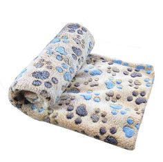 Sunlilee Paw Print Thick Warm Fleece Soft Pet Blanket Dog Puppy Sleep Beds Mat Pet Cat Cushion ** For more information, visit image link.