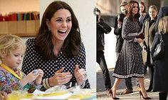 The pregnant mother-of-two looked chic in a Kate Spade dress as she arrived at the Foundling Museum in London, the UK's first children's charity and first public art gallery.