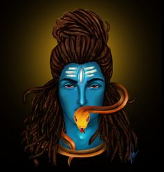 Shiva , Mahadev , Blue God , By-jagriti Mishra Mahakal - Anger Rudra Lord Shiva Rudra Shiva, Mahakal Shiva, Shiva Art, Lord Shiva Painting, Lord Mahadev, Shiva Wallpaper, E Motion, Durga Goddess, God Pictures