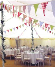 Banderines para boda vintage
