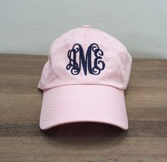Ladies Monogrammed Baseball Cap Multiple by SEmbroideredBoutique