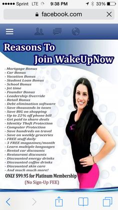Reasons To Join Wake Up Now http://wakeupcapital.com/