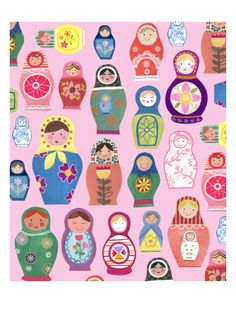 Nesting Dolls Prints! Oh how love Russian stacking dolls!