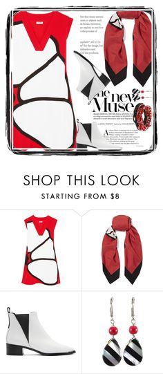 """""""KENZO paneled crepe mini Dress"""" by alliesmns ❤ liked on Polyvore featuring Kenzo, Gucci, Acne Studios and Erica Lyons"""