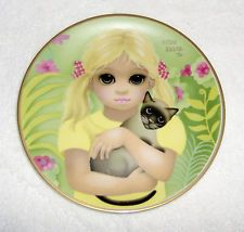 "Margaret Keane ""My Kitty"" Collector Plate~1977 2nd Ltd Edition"