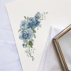"Polubienia: 572, komentarze: 8 – Jelowish (@jelowish) na Instagramie: ""Roses are still one of my favorite flowers to draw #roses"""