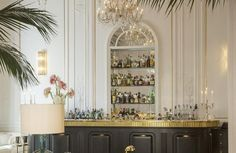 Bar at Palazzo Dama   For more inspirations: www.luxxu.net #hoteldesign #luxuryhotels #lightingdesign