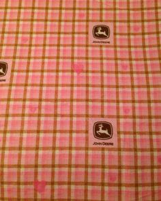 Large Baby Blanket, Pink John Deere Heart Plaid Flannel and Sparkle Pink Flannel, Receiving Blanket, Baby Shower Gift  on Etsy, $16.50