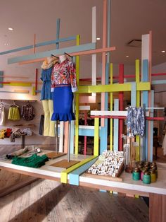 Visual Merchandising | Display: Effortless Anthropologie interesting room divider inspiration?