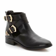 Boots cuir ouvertes sur le côté | La Redoute Mobile