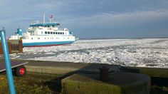 Færgen til Frejø og Femø, Kragenæs havn vinter 2014.