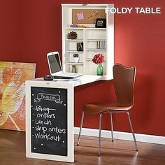New* Wall Mounted Desk Folding Table Home Furniture Space Saving Foldable  Decor