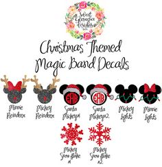 Christmas Themed Magic Band Decals by SweetGeorgiaDesigns on Etsy