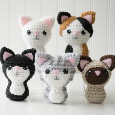 Crochet Amigurumi Cat Pattern, 4 inch - Swat Team Kitties - CraftyAlien.com