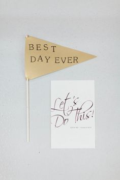 Best day ever gold flags?