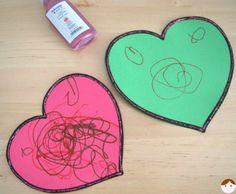 Une carte de voeux pour la fête des grands mères (enfant de 2 ans)