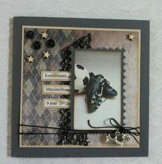 Guttekort Masculine Cards, Layouts, Scrapbooking, Crafts, Ideas, Decor, Birthday, Manualidades, Decoration