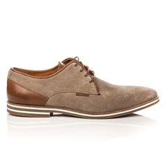 sports shoes 9b7ab d040f Chaussures Ville à Lacets Homme Cuir Taupe