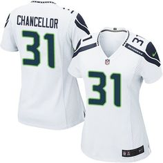 Nike Limited Kam Chancellor White Women's Jersey - Seattle Seahawks #31 NFL Road