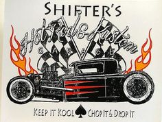 Vintage Shifters Hot Rod and Kustom Car Mens Quality T Shirt