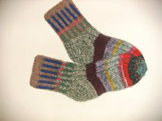 Hand Knitted Wool Socks Colorful for Women  Size by Billeshop, $18.00